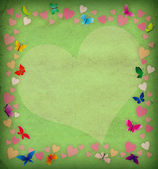 Retro background with flowers and butterfl — Foto de Stock