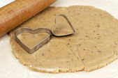 Close-up of cookie cutter heart — Stock Photo