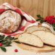 Bread and rowan — Stock Photo