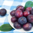 Stock Photo: Organic plums
