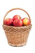 Mand met appelen — Stockfoto