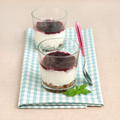 Blueberry dessert — Stock Photo