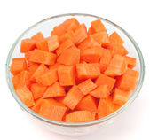 Chopped carrot — Stock Photo