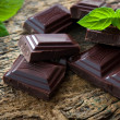 Dark chocolate pieces — Stock Photo #34244369