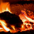 Stock Photo: Burning coal