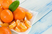 Fresh mandarins — Stockfoto