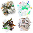 Selection of garbage — Stock Photo