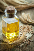 Wheat germ oil — Stock Photo