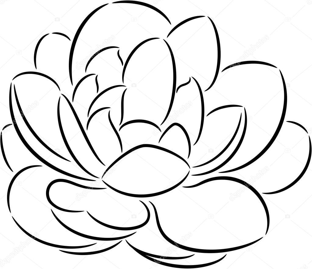 一束鲜花,孤立的插图— vector by tallisman