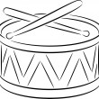 Stock Vector: Drum
