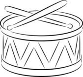Drum — Stock Vector