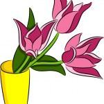 Tulips Flowers — Stock Vector #51424191