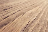 Wood Texture, Wooden Grain Background, Desk in Perspective Close Up, Striped Timber — Stock Photo