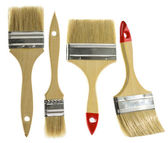 Paint brush set isolated over white background  — Stock Photo