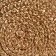 Basket wicker braid weave texture, Circle straw reed macro background — Stock Photo #45782159