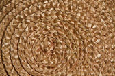 Basket wicker braid weave texture, Circle straw reed macro background — Stock Photo