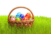 Eggs in Easter Basket — Stock Photo