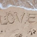 Love on sand — Stock Photo #6457193