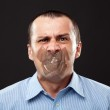 Silenced businessman — Stock Photo #12899576