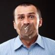 Silenced businessman — Stock Photo #12899584