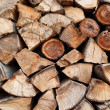 Stock Photo: Stack of beech chopped firewoods