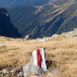 Marked path on the mountains — Stock Photo