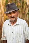 Closeup portrait of a senior man outside — Stock Photo