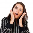Shocked businesswoman - Stock Photo