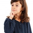 Cute little girl thinking - Stock Photo