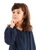 Cute little girl thinking — Stock Photo