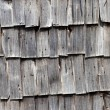 Old wooden shingle background - Stock Photo