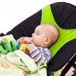 Toddler sleeping in a baby lounger - Lizenzfreies Foto