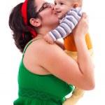 Happy matka a dítě — Stock fotografie