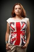 Beautiful redhead woman in studio — Stock Photo
