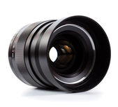 High quality prime lens over white — Stock Photo