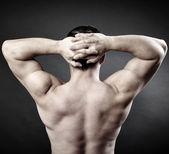 Muscular man back — Stock Photo