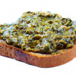 Spinach toast — Stock Photo