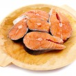 Royalty-Free Stock Photo: Salmon on wooden board