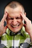 Strong migraine — Stock Photo