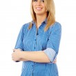 Young confident businesswoman — Stock Photo