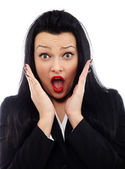Businesswoman in shock — Stock Photo