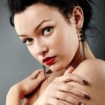 Closeup of sensual woman — Stock Photo #20788857