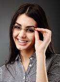 Closeup of young businesswoman — Stock Photo