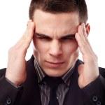 Businessman having a headache — Stock Photo #21556269