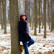 Young girl in outdoor full length - Stockfoto