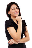 Closeup pose of toothy young businesswoman — Stock Photo