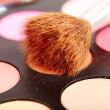 Eyeshadow kit with brush — Stock Photo
