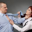 Violent argument between colleagues — Stock Photo #26657995