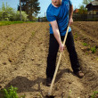 Man working the land — Stock Photo