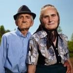 Senior farmers husband and wife — Stock Photo